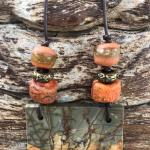 Pendant necklace! Red Creek Jasper!