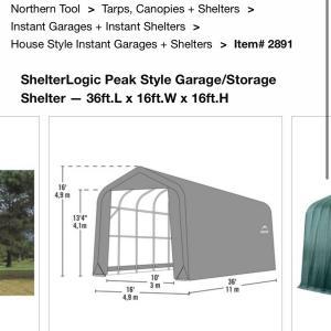 Photo of ShelterLogic Garage/Storage Shelter