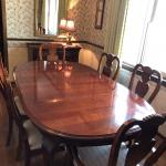 Formal dining table, buffet, & hutch.