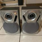 SPEAKERS, CAGE, RECORDS, RAZOR 360, COOLER, DISHES & CUPS