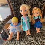 FROZEN DOLLS, SEE SAW, TENT, GOLF CLUBS, ACITIVITY TABLE
