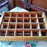 Keenan's Wooden divided Soda box Kearney.Nebraska 1971 Sturdy Bilt