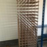 Wood wine rack for 120 bottles