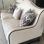Beautiful Ultra high end  top quality (2)  linen off white couches