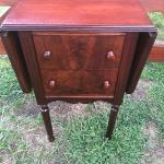 Antique nightstand with drop leaves