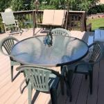"DECK 48"" ROUND GLASS TOP TABLE"