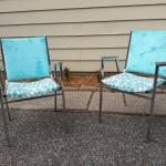 Up-cycled retro chairs