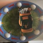 Golf Themed Serving Plater and Side Dish