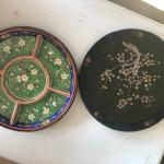 Japanese Hand painted Sectioned Plate and Box