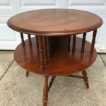 Vintage 1950 Maple Round Table