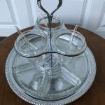 Vintage Lazy Susan condiment/relish server