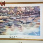 Autum print with gold frame