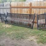 Wrought iron fence for the front porch