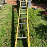 Industrial grade fiberglass ladder