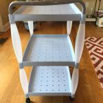 1 pair of light blue tea cart