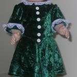 "18"" doll, velour skirt & blouse"
