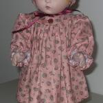 "18"" doll dress w/ bonnet"
