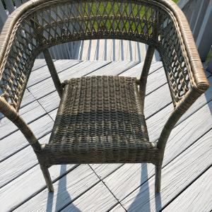 Photo of Wicker/wooden chair