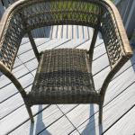 Wicker/wooden chair