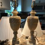 Beautiful marble set of lamps