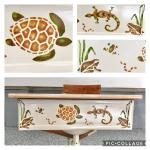 Children's Hand Stenciled Homework/Study Desk