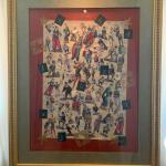Large Framed Vintage Clown Artwork