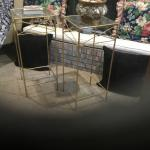 2  Iron & Glass Stands Tables