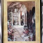 European style framed art