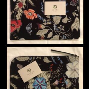 """Photo of Gucci Rare Flora Knight Travel IPads,Laptop Clutch""""Authentic"""""""