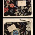 "Gucci Rare Flora Knight Travel IPads,Laptop Clutch""Authentic"""