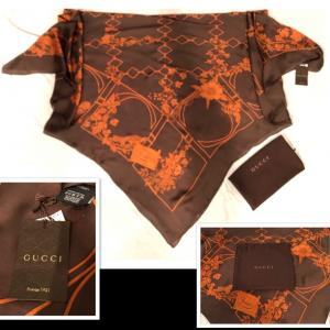 Photo of Gucci Silk Scarf & Dust bag Authentic
