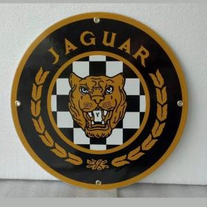 Photo of Porcelain jaguar automobile sign