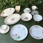 Assorted rose dish lot