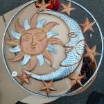 Metal, Sun, Moon and Stars Decor