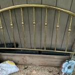Brass bed head board