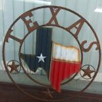 "24"" Corrugated Metal Texas Map"