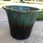 Large glazed planter