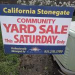 Once a year Community Garage Sale-Oct 3rd ONLY
