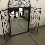 Wrought iron mirror