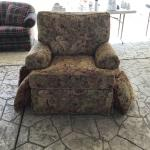 Upholstered oversized chair