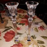 Brand new 10 inch pr Waterford Marquis Crystal Candleholders.