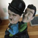 Laurel & Hardy vintage collectable statue