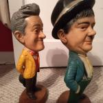 Separate standing Laurel & Hardy statues