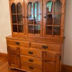 Beautiful Antique Maple China Hutch