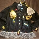 Little Girls Decorated Jean Jackets