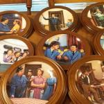 Jackie Gleason / Honeymooners Walnut Framed Plate Collection