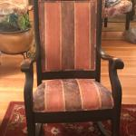 Antique rocking chair for sale - Reupholstered.  Good condition