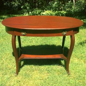 Photo of Vintage Mahogany Lamp Side Table Living Room Parlor