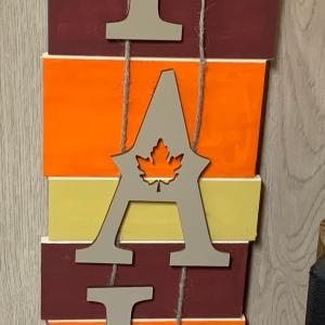 Photo of Fall Wood Sign