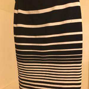 Photo of Striped body con skirt